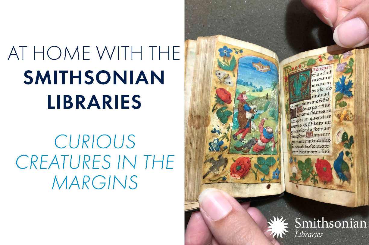 At Home with the Smithsonian Libraries: Curious Creatures in the Margins
