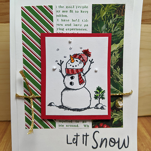Handmade Holiday Cards: Let It Snow