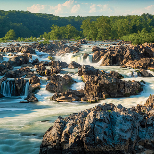 Sunrise Hikes at Great Falls, Virginia