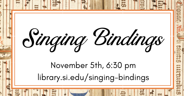 Singing Bindings: An Evening Devoted to Early Music and Rare Books