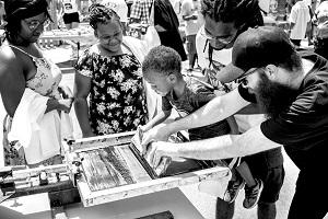 Family Art Workshop: Screen Printing for Social Change